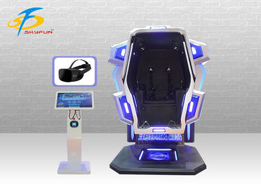 Single Cabin 360 Rotating Virtual Reality Chair Cinema Dengan Bahan Besi Dan Fiberglass